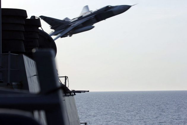 Video Su-24 & Ka-27 Rusia Terbang Rendah Buzzing USS Donald Cook