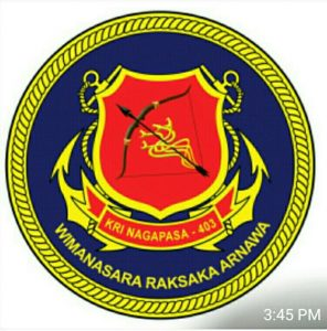 Logo KRI Nagapasa 403 - Photo By Puguh Purwandaru, FB Alutsista Indonesia