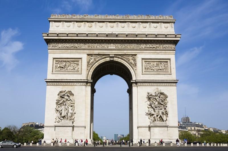 Monumen Simpang Lima Gumul Kediri dan Arc De Triomphe Paris