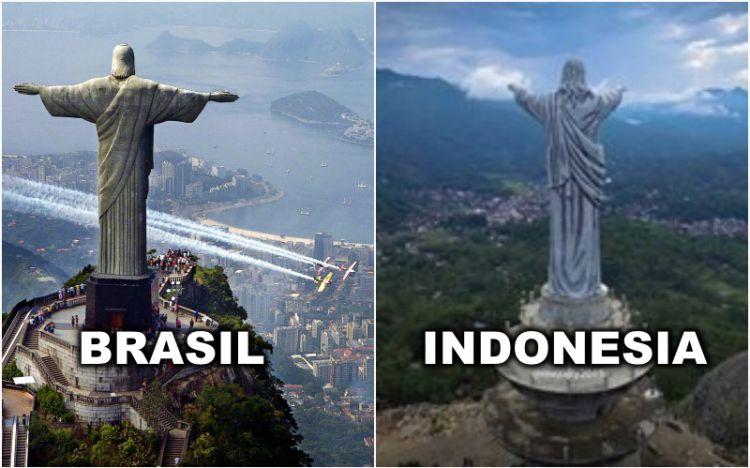 Patung Yesus Toraja dan Brasil