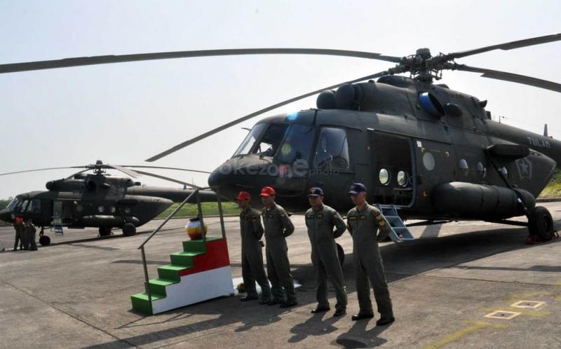 Helikopter Mil Mi-17 TNI AD (Okezone.com)