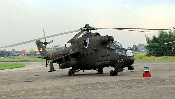 Helikopter Mil Mi-35P Hind TNI AD (IndoMiliterDOTcom)