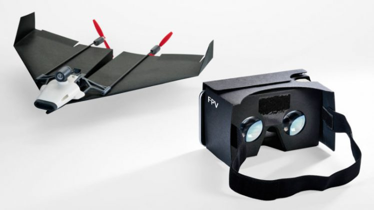 Remote Control Pesawat Kertas PowerUp Lengkap dengan Kamera dan Virtual Reality Box - gizmodoDOTcom