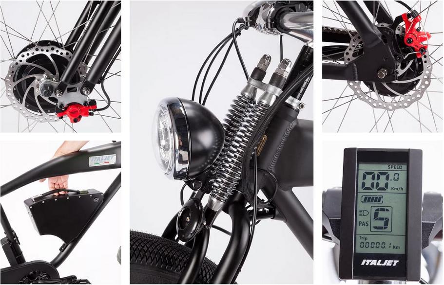 Spesifikasi Sepeda Listrik Cafe Racer Italjet