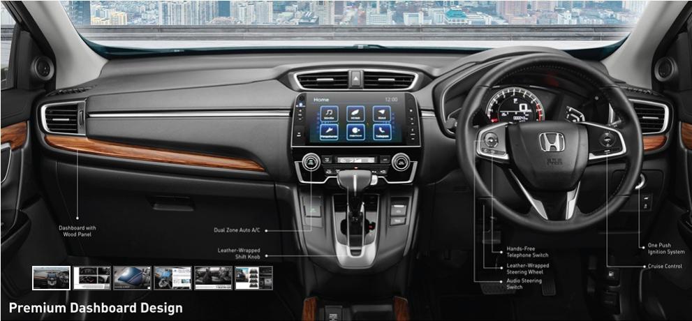 Desain Dashboard Honda CR-V 2017 Tujuh Penumpang - (Src HondaIndonesiaDOTcom)