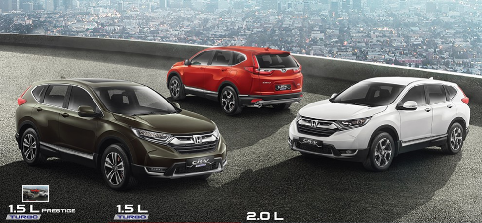 Pilihan Warna Honda CR-V Terbaru 2017 dengan 7 Penumpang - (Src HondaIndonesiaDOTcom)