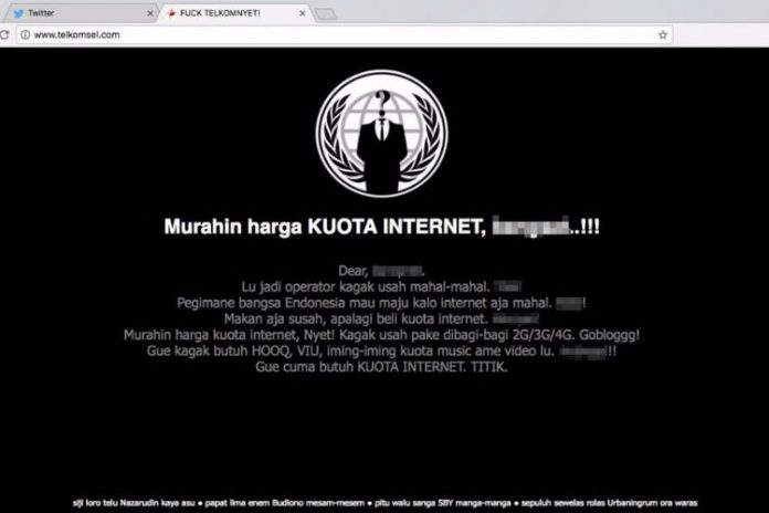 Website Telkomsel Dihack