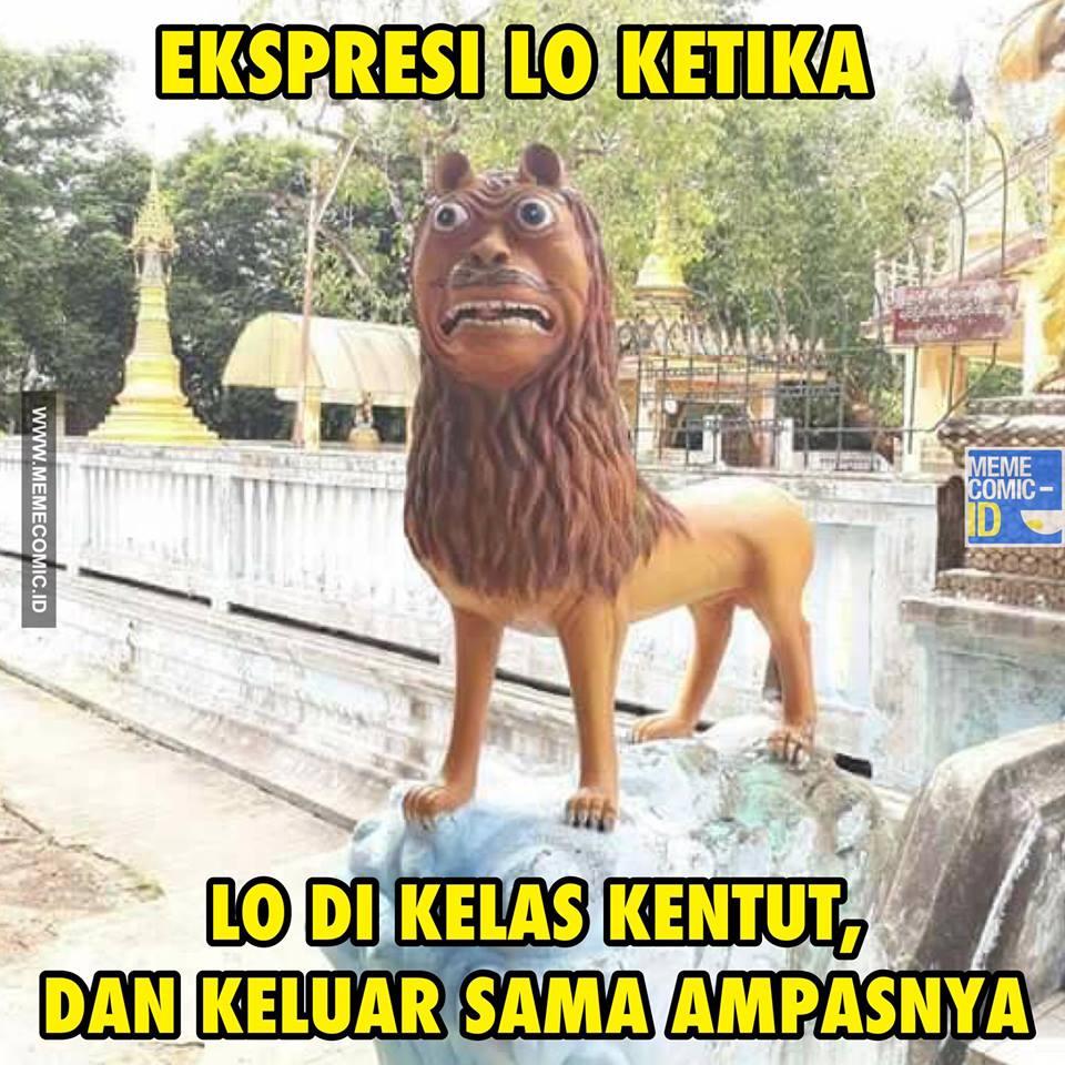 Ekspresi Lo Ketika Lo Kecepirit, Wkwkwk - Meme Adik Macan Cisewu