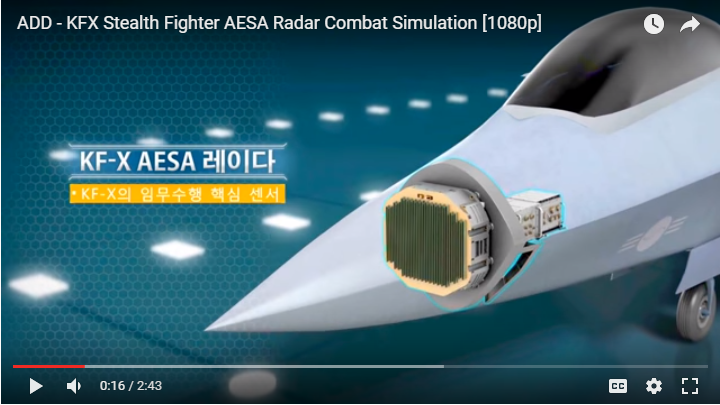 Pembangunan KFX IFX dan Penggunaan Radar AESA