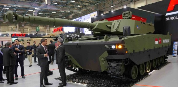 Prototype tank medium KAPLAN, FNSS-Pindad (IDEF 2017)