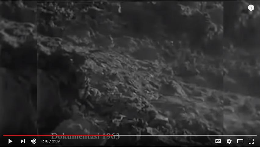 Saat Gunung Agung Meletus Tahun 1963
