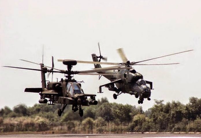 Helikopter Apache AH64 E Guardian Indonesia dan Mil Mi 35P Hind Indonesia