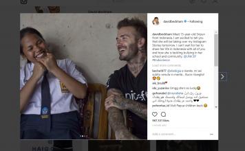 Anak ini Paling Beruntung Bisa Bersenda Gurau dengan David Beckham