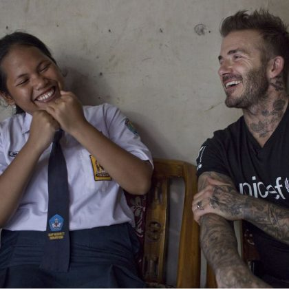 Bersenda Gurau dengan David Beckham