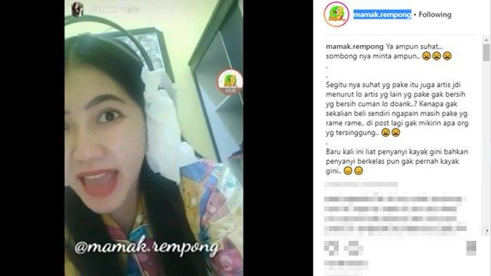Instagram Story Via Vallen yang diunggah kembali oleh akun gosip mamak.rempong. (Instagram)