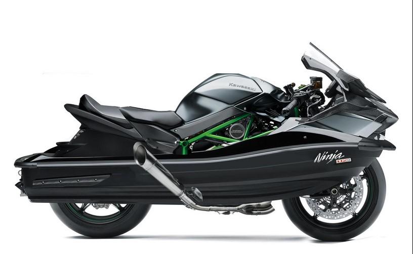 Kawasaki Ninja H2O Mode Jalan Darat