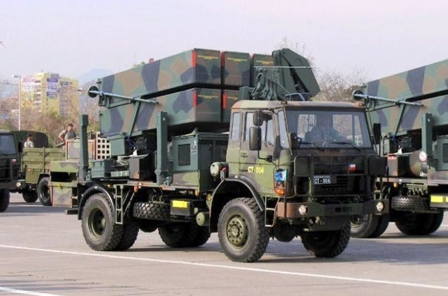 Rudal Nasams II versi mobile dengan platform truk 8x8 (photo taringa)
