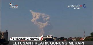 Gunung Merapi Erupsi Freatik, 11 Mei 2018