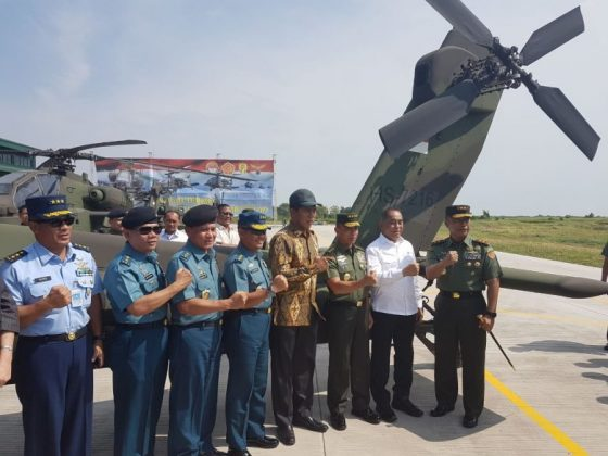 Helikopter Serang AH-64E Guardian TNI AD Telah Di Serah Terimakan