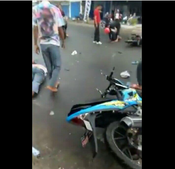 Kecelakaan pelajar usai kelulusan (Facebook)