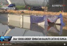 Dua Bagian Jembatan Kalikuto Runtuh