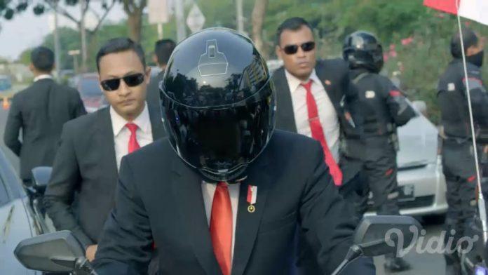 Helm Jokowi Dalam Video Pembukaan Asian Games 2018