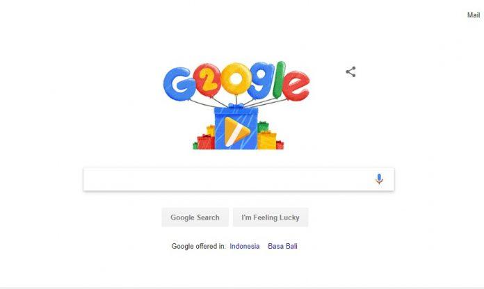 Doodle Google Ulang Tahun ke 20, Ada Ucapan Bahasa Indonesia