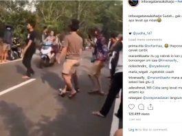 Viral Video Cowok Ditabrak Cewek Naik Motor Hingga Terpental