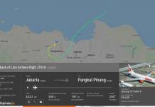 Rute Terakhir Pesawat Lion Air JT 610 Sebelum Akhirnya Jatuh Ke Laut - Data Flight Radar 24