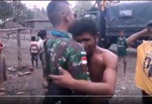 Momen Haru Perpisahan Warga dan Pasukan TNI