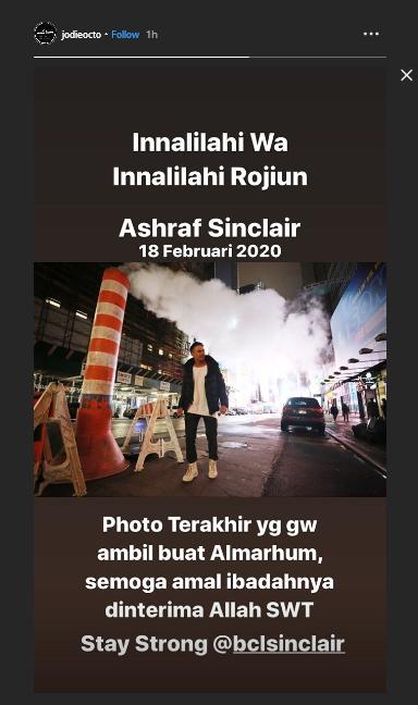 Kabar Ashraf Sinclair Meninggal Dunia Di Akun Instagram Jodiocto