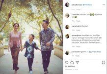 Postingan Instagram Ashraf Sinclair Bersama Keluarga